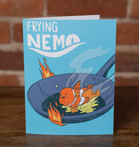 Frying Nemo Greeting Card - punpantry