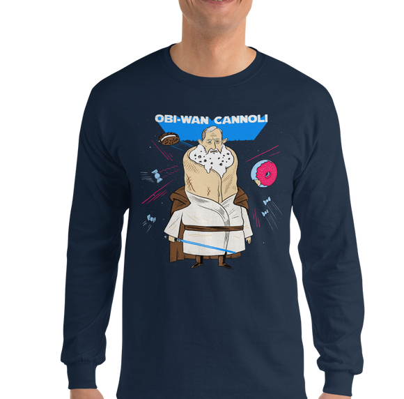 Obi-Wan Cannoli Long Sleeve T-Shirt - punpantry