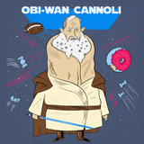 Obi-Wan Cannoli Greeting Card - punpantry