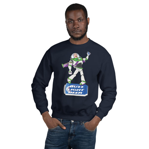 Buzz Light Beer Crewneck Sweatshirt - punpantry
