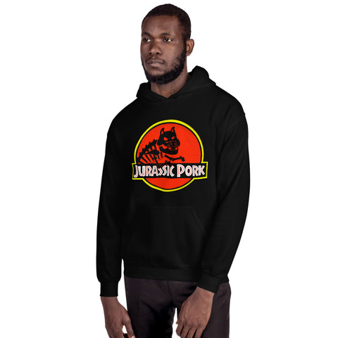 Jurassic Pork Hooded Sweatshirt - punpantry