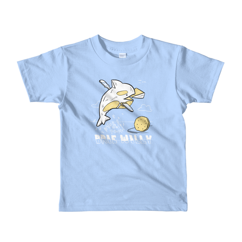 Brie Willy Kid's T-Shirt - punpantry