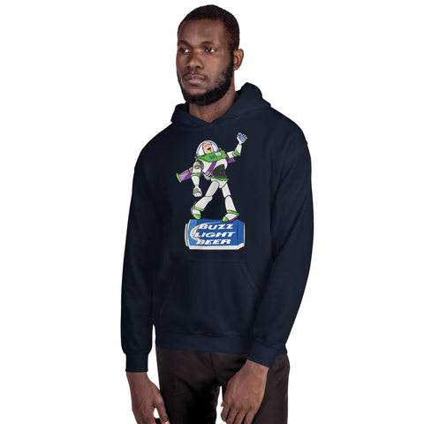 Buzz Light Beer Hooded Sweatshirt - punpantry