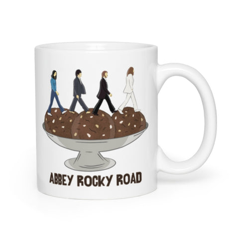 Abbey Rocky Road Ceramic Mug - White - punpantry