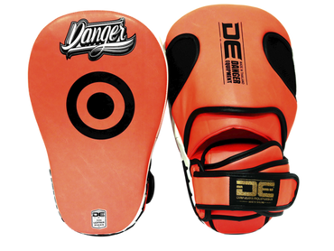 Focus Mitts DEFMP-003 Neon Red/White