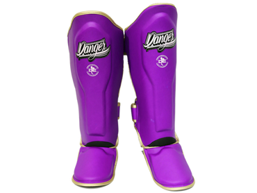 Shin Guards Super Max DESGX-002 Purple/Gold