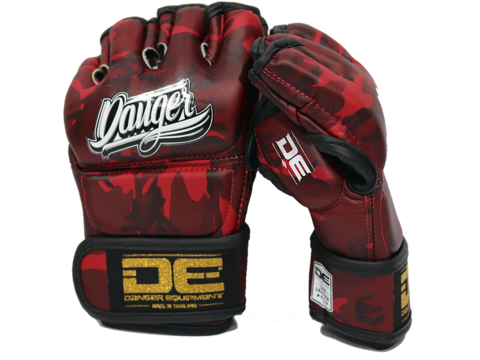 MMA Gloves DEMGPR-002 Army Red