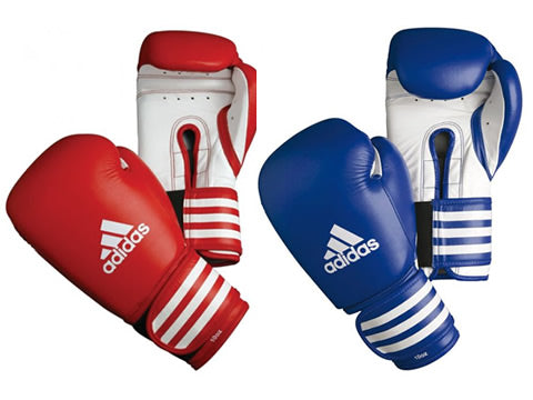 Competition leather gloves