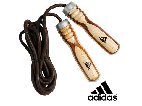 Wooden handeled weighted skipping rope