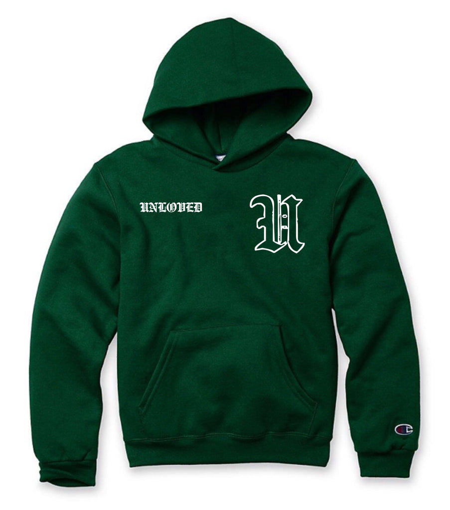 Dark Green Old English Hoodie