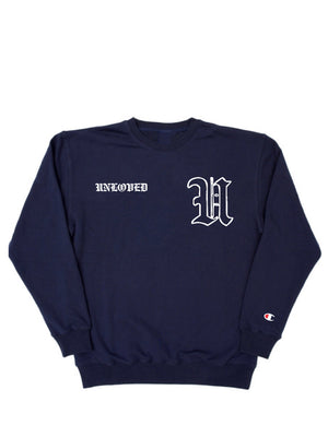 Navy Old English Crewneck