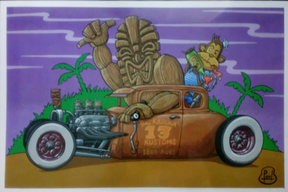 Paul Hughes -  Big Kahuna 13 Kustoms A3 Print