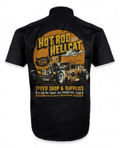 Hotrod Hellcat - Mens In God We Trust Work Shirt