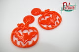 Bats and Pumpkins - dangle earrings