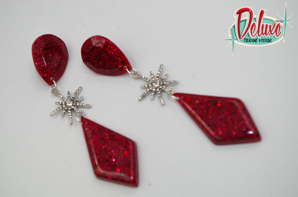 Elegance Collection - Starburst Beauty - Dangle Earrings