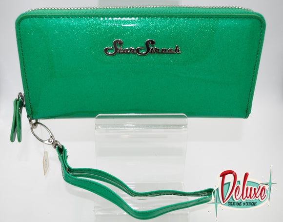 Star Struck Wristlet - Emerald Green