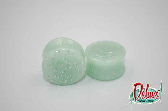 22mm Pastel Mint Plugs