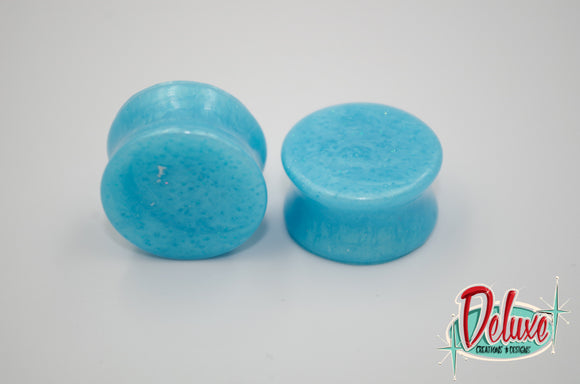 22mm Blue Swirl Plugs