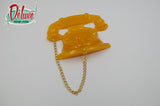 Retro Telephone Brooch