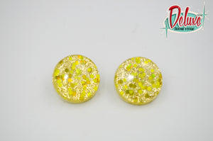 Oh happy days - 25mm Flat Top Dome Earrings
