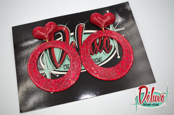 Tango of Love - Large Hoop Earrings