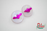 Gone Batty - 25mm Flat Top Dome Earrings