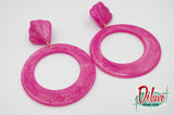 Raspberry Swirl - Large Hoop Earrings