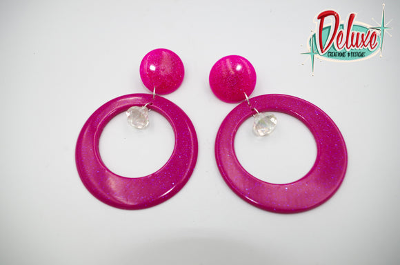 Dreaming of Pink - Large Hoop Earrings