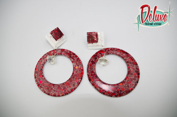 Hot Embers - Large Hoop Earrings