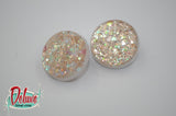 Champagne Glitz - 25mm Flat Top Domes