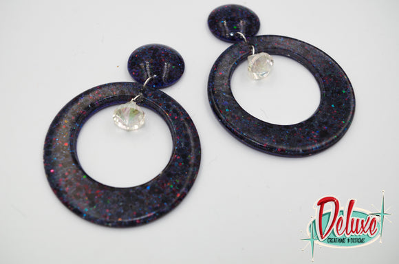 Midnight Madness - Large Hoop Earrings