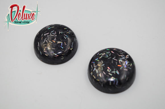 Tinsel City - 25mm Flat Top Dome Earrings