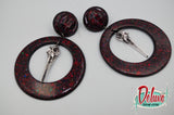 Dark Elegance Collection - Large Hoop Earrings