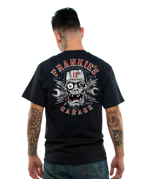 Lucky 13 - Frankie's Garage - Men's Short sleeved T-Shirt