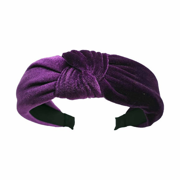 Catch a Thief - Purple Velvet Turban Headband