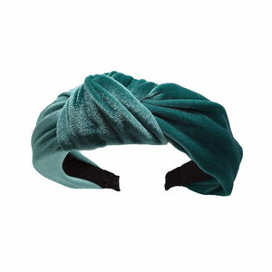 Catch a Thief - Teal Velvet Turban Headband