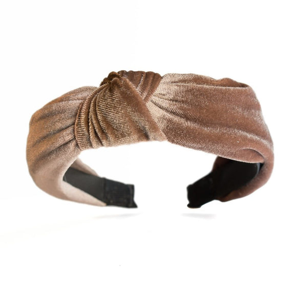 Catch a Thief - Coffee Velvet Turban Headband