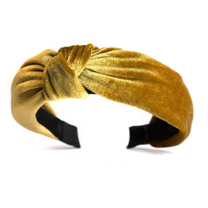Catch a Thief - Gold Velvet Turban Headband