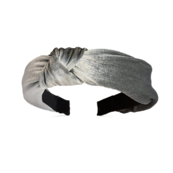 Catch a Thief - Silver Velvet Turban Headband
