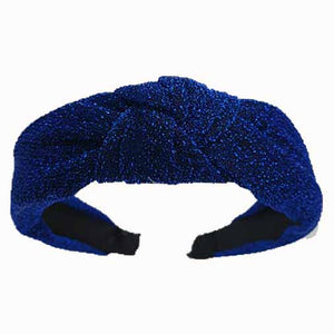 Catch a Thief - Blue Lurex Turban Headband