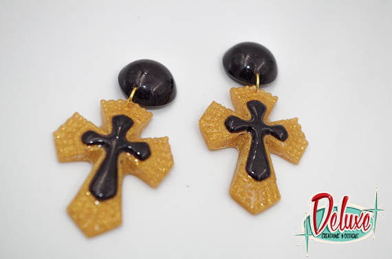 Cross - Dangle earrings