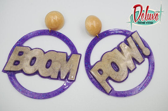 BOOM! POW! - Extra Large Hoop Earrings