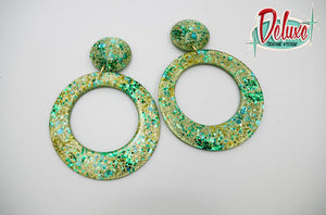 Poison Ivy - Large Hoop Earrings