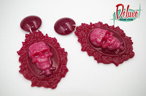Skull Cameo - Dangle Earrings