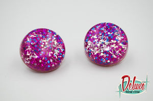 Royal Delights - 25mm Flat Top Dome Earrings