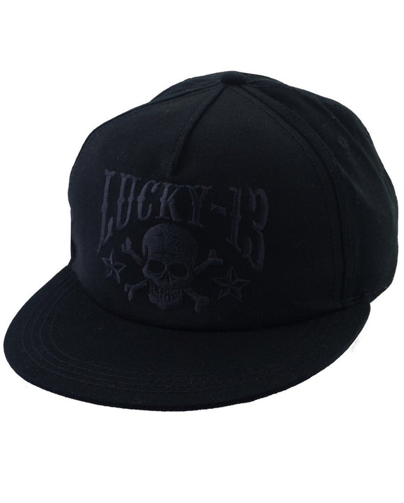 Lucky 13 - Skull Stars 6 Panel Embroidered Cap