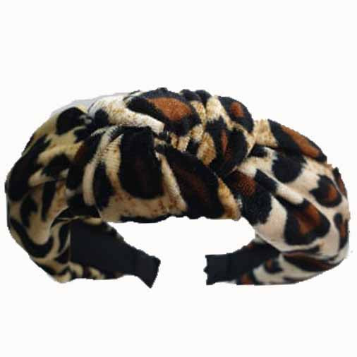 Catch a Thief - Leopard Velvet Turban Headband