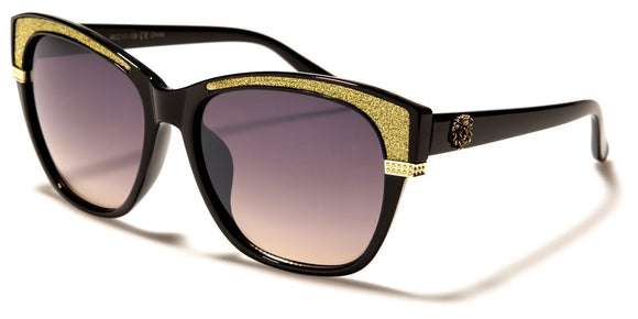 Kleo - Cat Eye Sunglasses - Gold Glitz