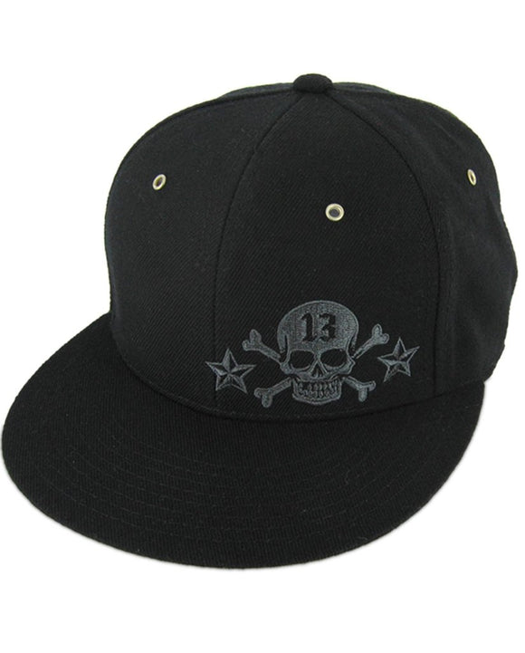 Lucky 13 - Skull Thirteen Metal Rivet Trucker Cap