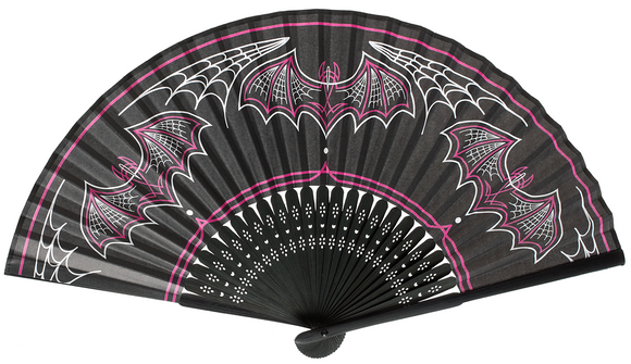Sourpuss Batty Pinstripe Fan